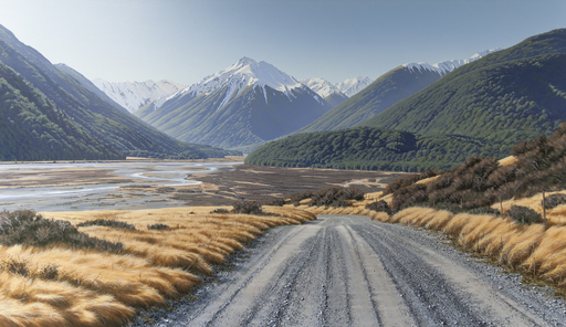 On the Road to Mount White, Arthur's Pass